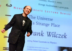 Photograph of Frank Wilczek by Justin Knight